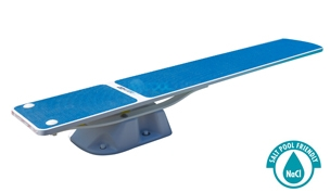 SR Smith Salt Pool Jump System With TrueTread Board Complete | 8' White with Blue Top Tread | 68-207-5782B