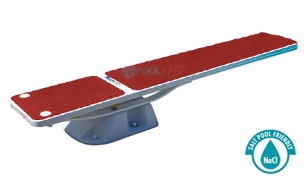 SR Smith Salt Pool Jump System With TrueTread Board Complete | 8' White with Red Top Tread | 68-207-5782R