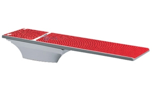 SR Smith Flyte-Deck II Stand With TrueTread Board Complete | 8' Radiant White with Red Top Tread | 68-207-7382R
