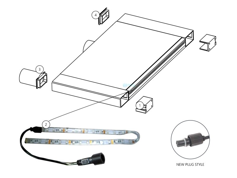 brilliant wonders 24 u0026quot  led waterfall light strip with