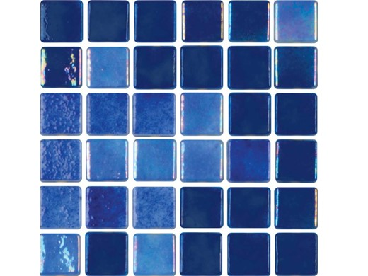 National Pool Tile Tribeca 1x1 Gl Dark Blue Glossy Tri Dkblue
