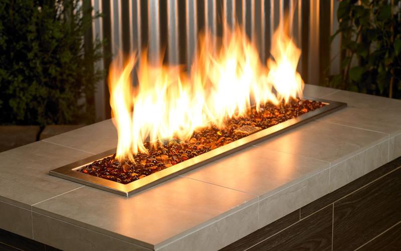 5-Pound Aqua Blue Firebeads American Fireglass Fireplace and Fire Pit Glass
