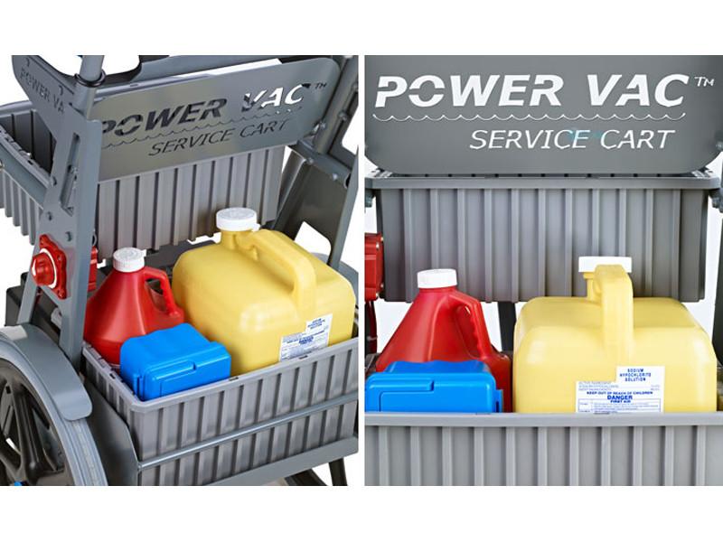 Power Vac Large Service Cart 038 B D