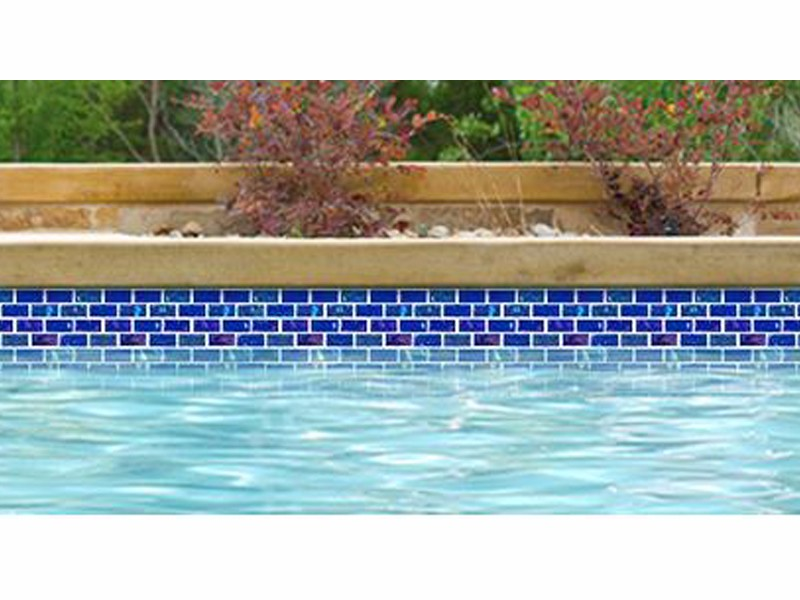 National Pool Tile Equinox 1x2 Glass Tile | Dark Blue | EQX-MIDNIGHT1X2