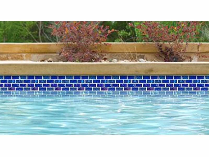National Pool Tile Equinox 1x2 Glass Tile Dark Blue