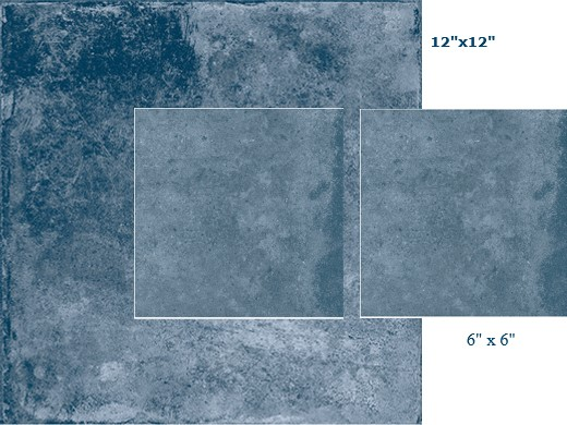 National Pool Tile Terrasini 12x12 Series Tile Terra Blue Ter Blue12