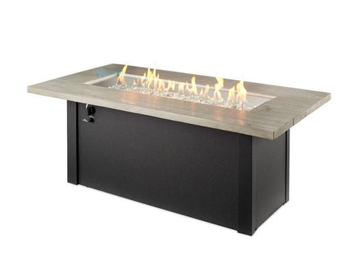 Outdoor Greatroom Cedar Ridge Linear Gas Fire Pit Table
