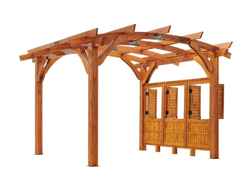 Outdoor Greatroom Pergola Kit 12 X 16 Redwood Sonoma Wood Sonoma1216 R