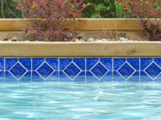 National Pool Tile Tropics Series Dolphin Cobalt Tro