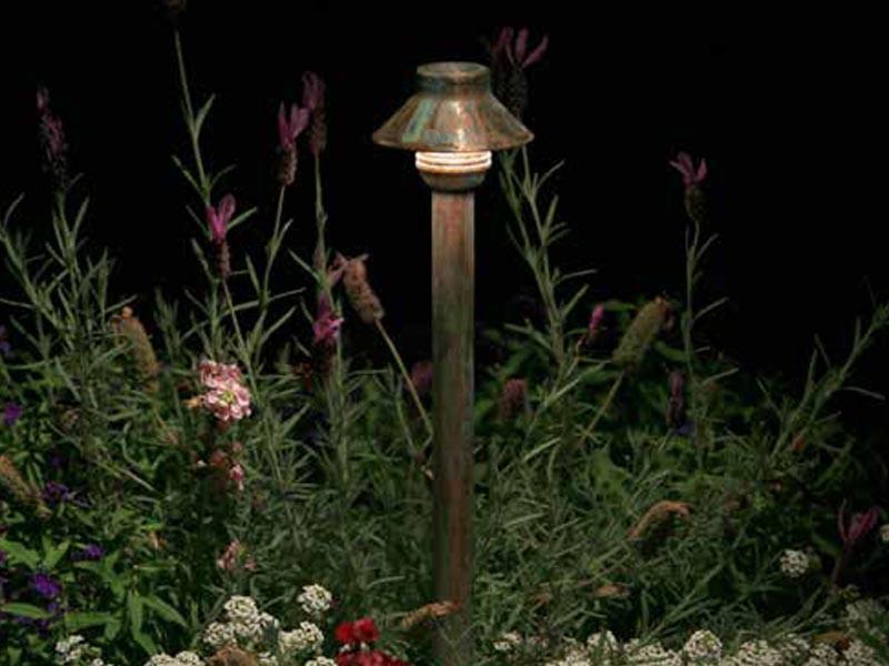 Fx Luminaire Tm Led Pathlight Bronze Metallic Finish