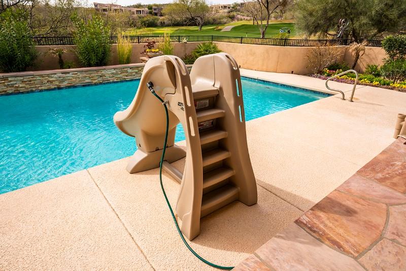 9efe36bdd S.R.Smith SlideAway Removable Pool Slide