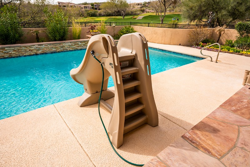 S R Smith Slideaway Removable Pool Slide Gray 660 209 5820