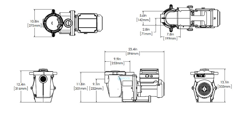 Pentair IntelliFlo Variable Sd High Performance Pool Pump with Digital on