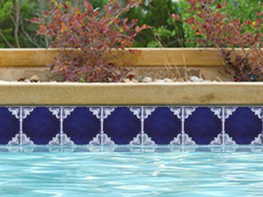National Pool Tile Casablanca 6x6 Field Series Cobalt