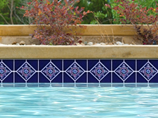 National Pool Tile Discovery Series Cobalt Blue Rust Ds500