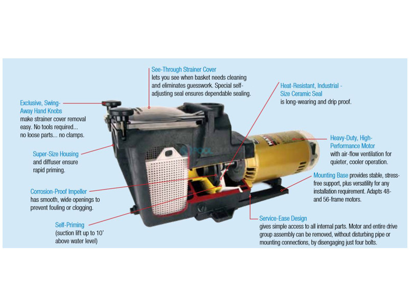 Hayward Super Pump | 1.5HP Uprated 115V 230V | SP2610X15 on