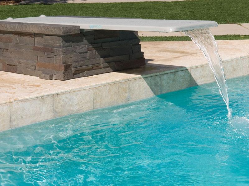 Inter-Fab Duro-Beam aquaBoard™ 2-Hole Diving Board 6\' Gray with Gray Top  Tread | DB6-9