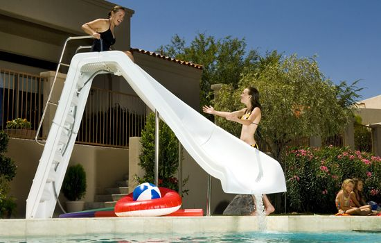 Inter Fab Wild Ride Pool Slide Right Curve White Wrs