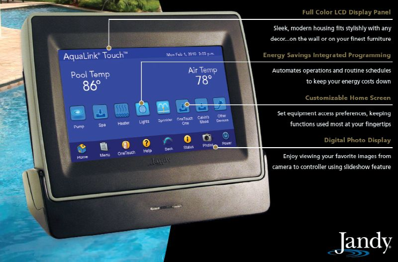 Jandy Aqualink Touchlink Control Panel Tchlnk Wf