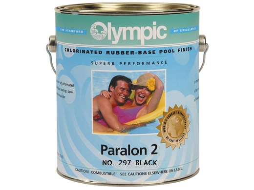 Olympic paralon 2 rubber pool paint black pool supply - Chlorinated rubber swimming pool paint ...