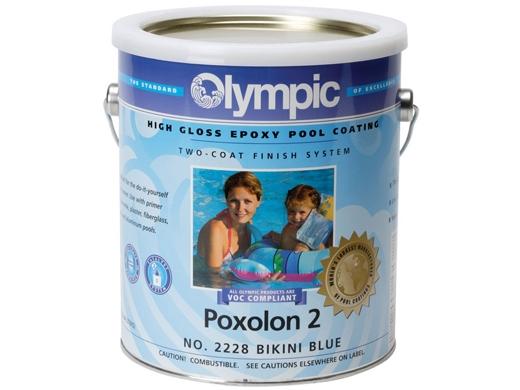 Olympic Poxolon 2 Epoxy Paint Bikini Blue Pool Supply