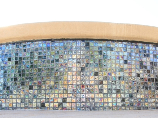 National Pool Tile Arctic 1x1 Glass Pool Tile Ice At012