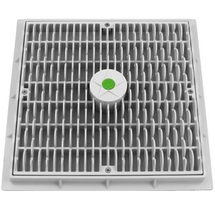 Aquastar 12x12 Square Wave Anti Entrapment Suction Outlet Covers And Frames White Wav12101