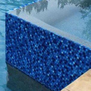 National Pool Tile Jules 1x1 Glass Pool Tile 9575 5at