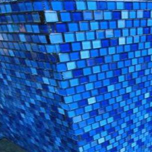 National pool tile jules 1x1 glass pool tile 9575 5at Bright blue tile