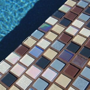 National Pool Tile Jules 1x1 Glass Series Pool Tile