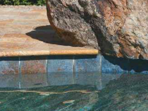 National Pool Tile Tuscany 6x6 Pool Tile Pietra Azul Hblu