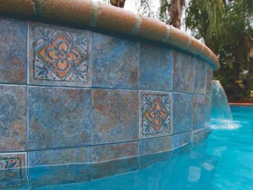 National Pool Tile Raku 6x6 Series Cobalt Blue Rucobalt