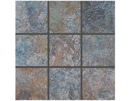 National Pool Tile Raku 2x2 Series Cobalt Blue