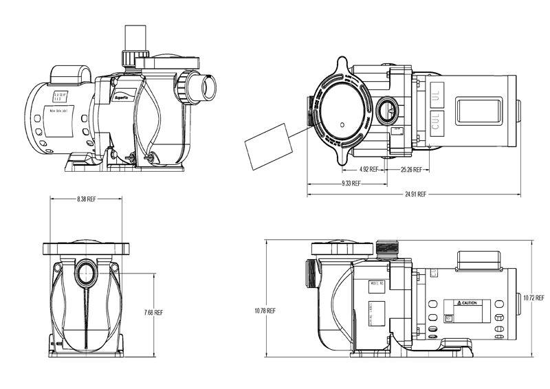 pentair superflo  5hp standard efficiency pool pump 115