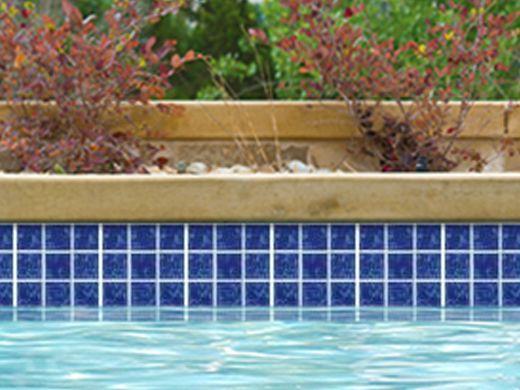 National Pool Tile 2x2 Glazed Series Pool Tile Lake Blue