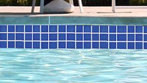 National Pool Tile 2x2 Glazed Pool Tile Electric Blue