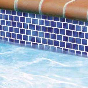 National Pool Tile Mini Koyn Series Marbleized Royal