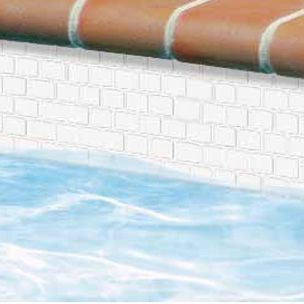 National Pool Tile Mini Koyn Series Raised White Mk400