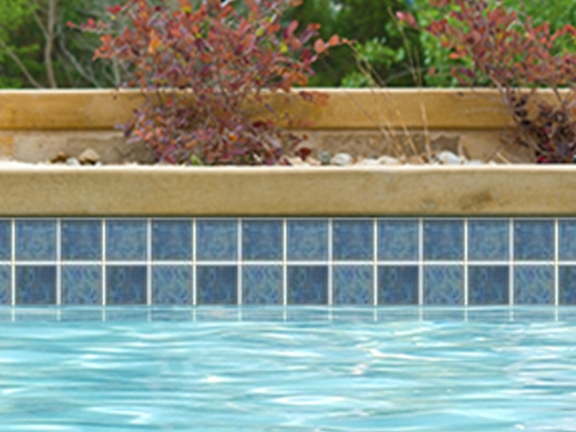 National pool tile harmony 3x3 series pacific blue hs341 for Harmony ceramic tiles