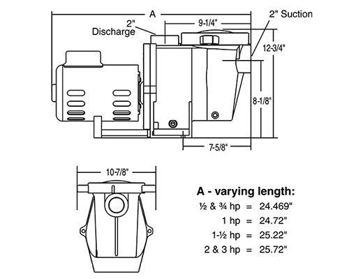 Pentair WhisperFlo 1.5HP Standard Efficiency Up-Rated Pool Pump 115-230V |  WF-26 | | Whisperflo Wiring Diagram |  | Pool Supply Unlimited