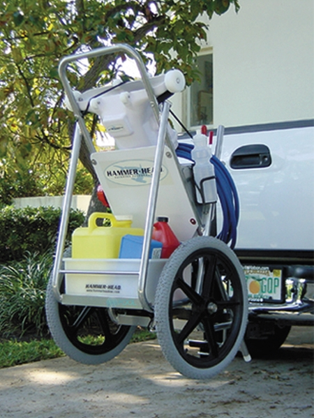 Power Vac Large Service Cart With Trailer Mount 038 D