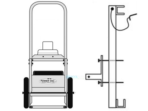 Powervac Mini Service Cart Only For Pv2100 Pv2200