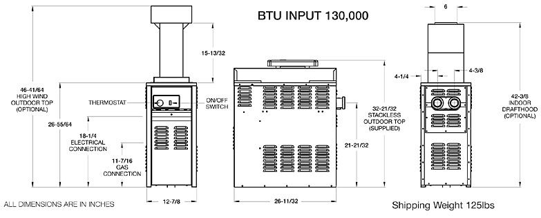 Raypak Versa 130k Btu Above Ground Amp Spa Heater