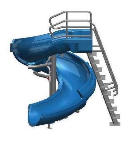 SR Smith Vortex Pool Slide | Ladder & Open Flume | Blue | 695-209-13