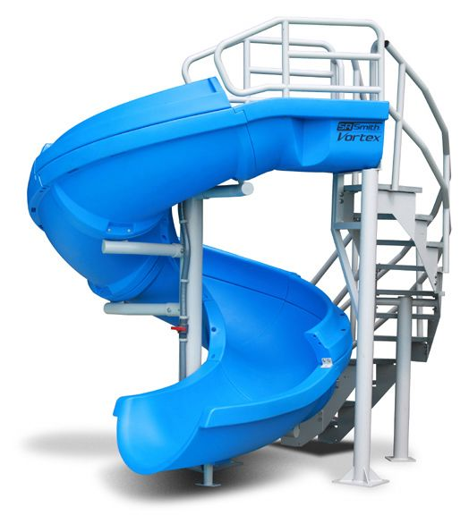 SR Smith Vortex Pool Slide | Spiral Staircase & Open Flume | Blue | 695-209-33