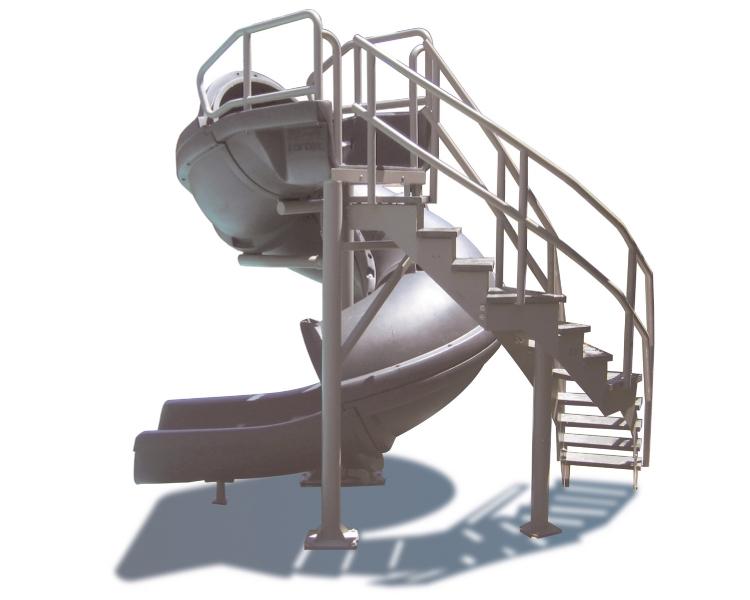 SR Smith Vortex Pool Slide | Spiral Staircase & Open Flume | Gray Granite | 695-209-324