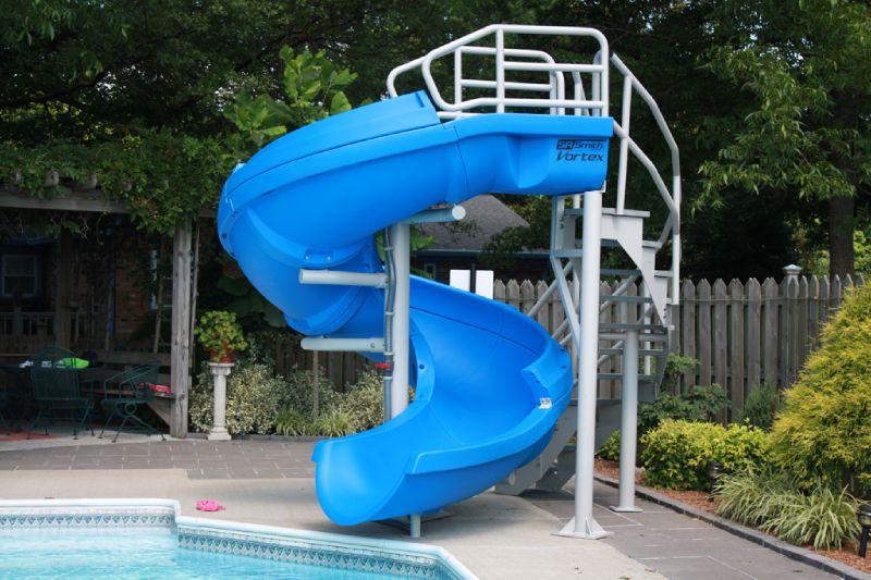 SR Smith Vortex Pool Slide | Spiral Staircase U0026 Open Flume | Gray Granite |  695 209 324