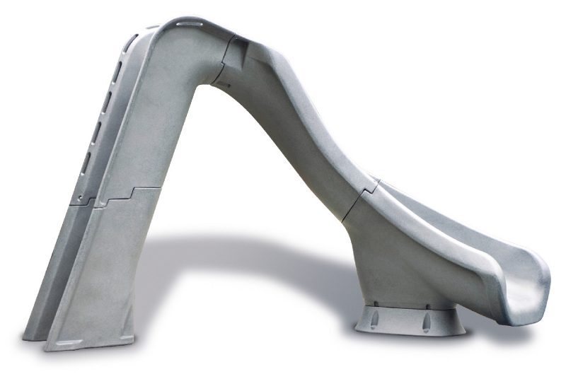 SR Smith Typhoon Pool Slide | Right Curve | Gray Granite | 670-209-58124