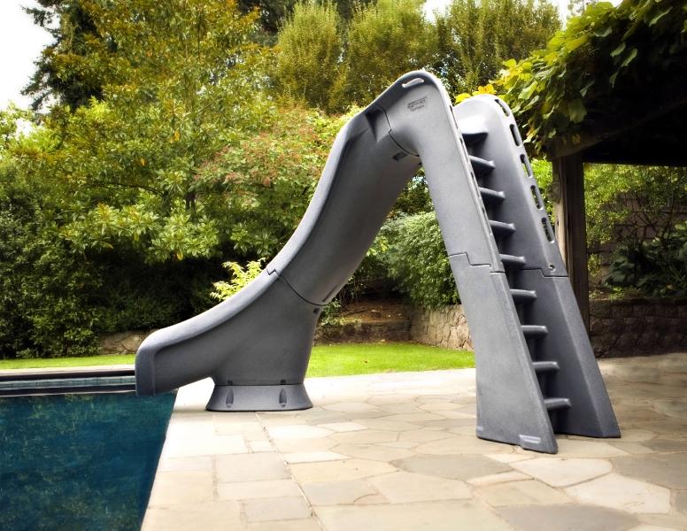 Sr Smith Typhoon Pool Slide Left Curve Gray Granite 670