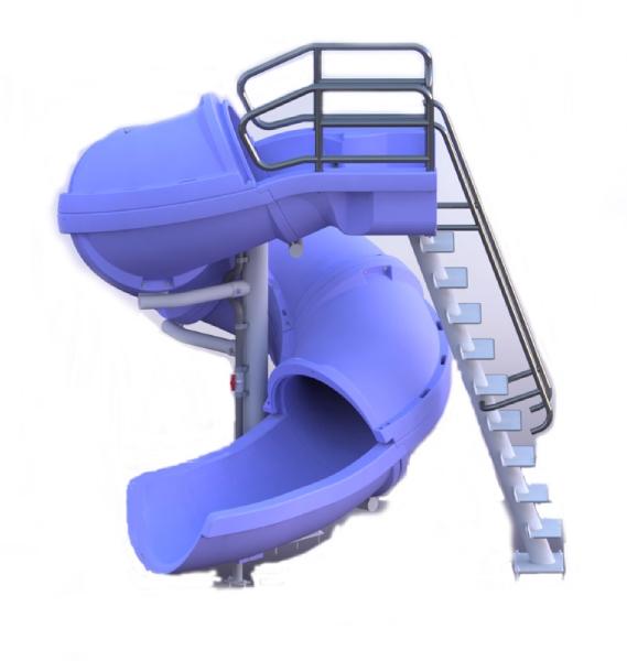 Swimming Pool Slide Parts : Sr smith vortex slide ladder closed flume blue